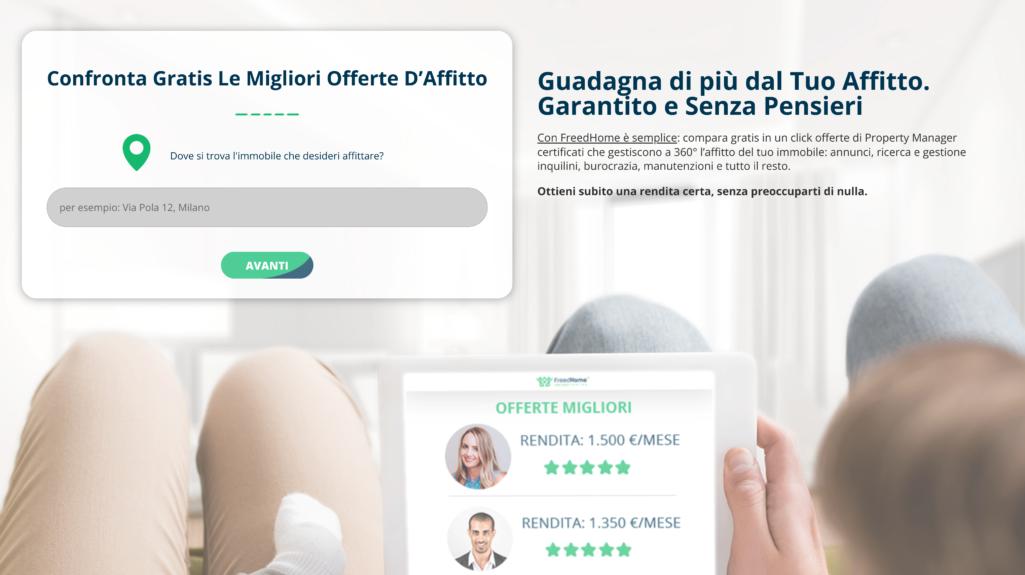 FreedHome soluzione proprietari immobili affitto case Milano Roma